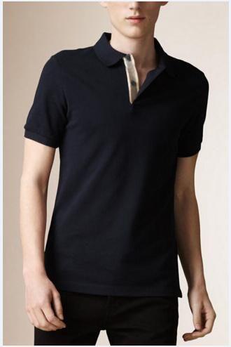 Manica corta Uomini Hot Polo Solid Inghilterra alta qualità di stile cavallo Londra Brit Polo di autunno della molla Casual T-shirt di cotone Tees Navy Blue