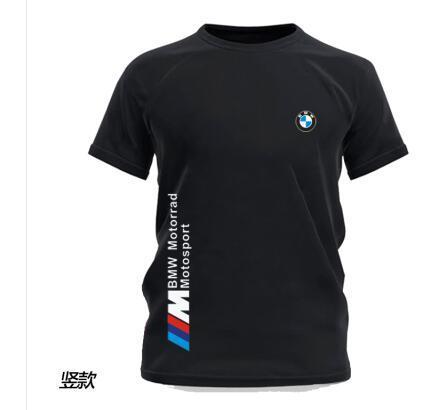 BMW تي شيرت للرجال بسيط كم دراجات نارية قصيرة الشباب جوكر تي شيرت ملابس داخلية المد والجزر العلامة التجارية شعار مخصص