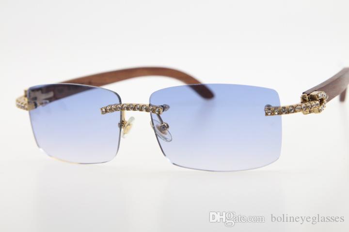 Очки Classic Lens 3524012 Горячий WOOEN Мужские камня унисекс коробка алмазное дерево с солнцезащитные очки синий без какого-мега для модных солнцезащитных очков новой Ruqaa