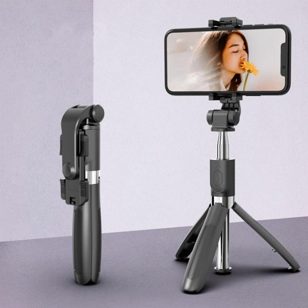 All-in-one Bluetooth selfie Stick con lega treppiede in plastica Auto Stick Selfiestick Smartphone selfie-Stick 4 colori all'ingrosso