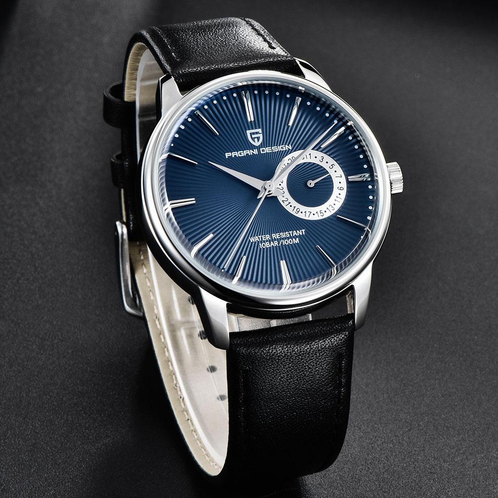 Relógio de pulso PAGANI Design Homens relógios de quartzo impermeável de negócios de couro para homens Relógio Masculino relogio masculino