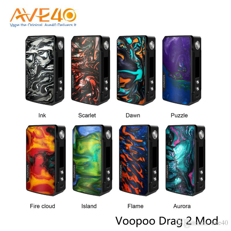 VOOPOO Drag 2 Mod 177W Powered by Dual 18650 Batteries Mode With GENE.FIT Chip 100% Authentic