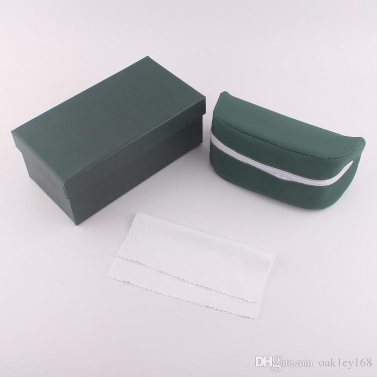 2019 حار ماركة نظارات القضية الأخضر غلاف غطاء نظارات نظارات القضية الأزياء الأخضر لينة حقيبة سستة مربع