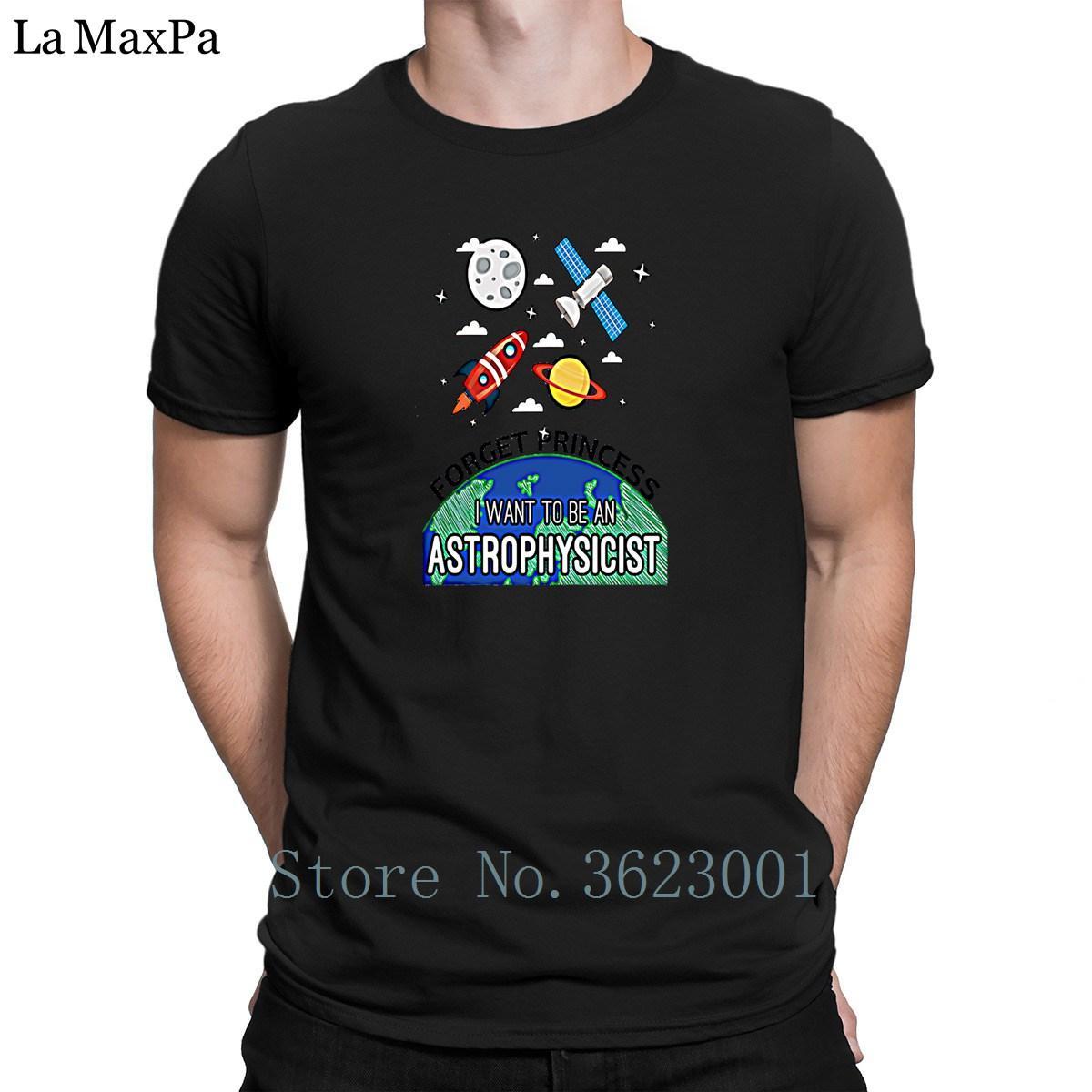 Tricoté O-Neck Tee shirt pour hommes Oubliez la princesse Astrophysicien T-shirt Hiphop T-shirt de construction T-shirt Coupe près du corps unisexe Nouveauté