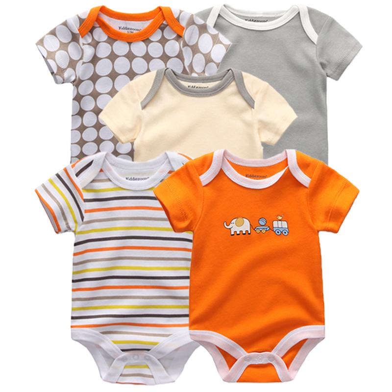 Summer Cotton Rompers Toddler Jumpsuit Spring Girls Boys New Born Clothes Bebe Overall Pajamas Baby Clothing Q190520