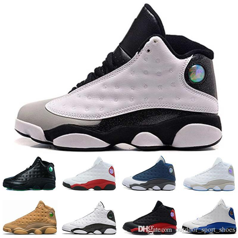 13 13s Mens Basketball Shoes Hyper Royal Grey Toe Bred Wheat Black Cat Wolf Grey Love Respect mens sports designer sneakers running shoes