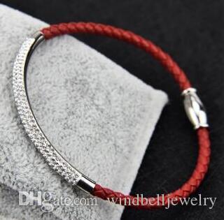Hoch bewertet Fashion Edelstahl PU-Leder-Armband mit Magnetverschluss