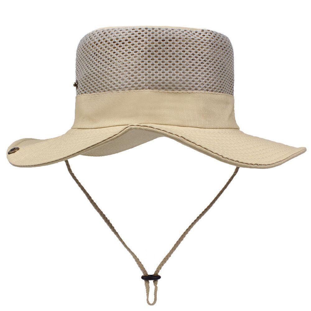 Patchwork cordes hommes chapeau de paille de plage Mode d'été en plein air Chapeau de soleil seau casquettes de soleil Boonie séchage Pêche Cap Cappello