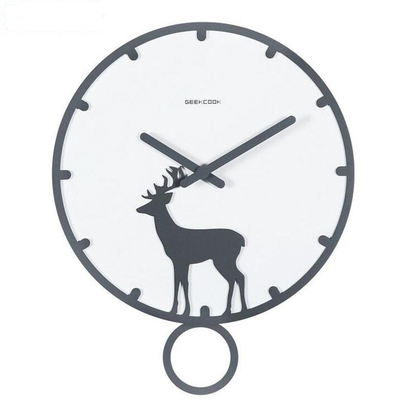 14 polegadas Grande relógio de parede de madeira com Pendulum Silencioso não Ticking Quartz parede Assista Batter Operado para sala