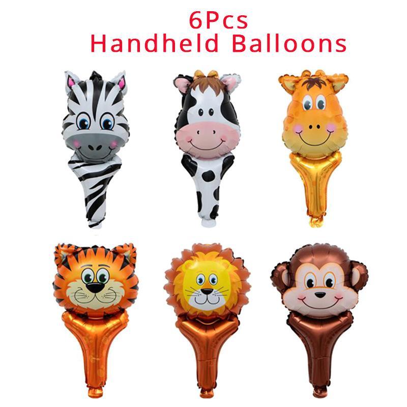 Anniversaire Animaux.Acheter Weigao Fete Jungle Joyeux Anniversaire Banniere Guirlande Animaux Nombre Numerique Ballons Premier Bebe Garcon Fete D Anniversaire Decoration