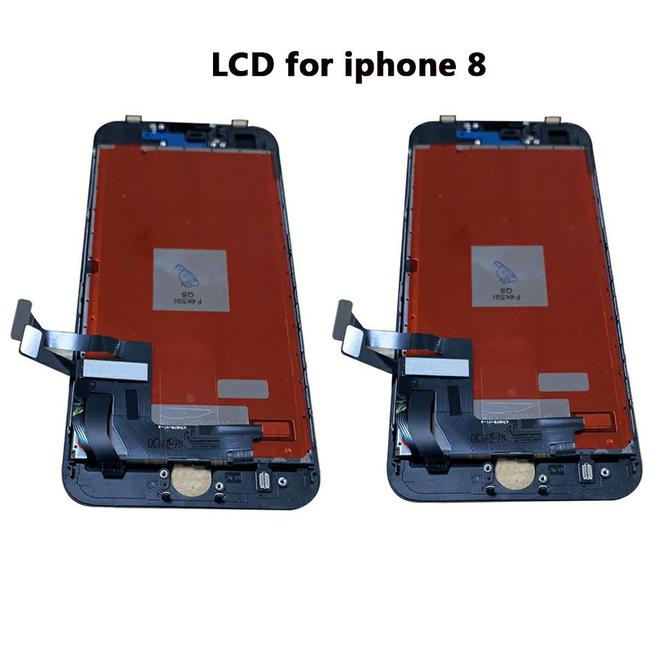 Black LCD screen for iphone 8 Full Assembly with frame 3D touch cell phone repair parts OEM quality full in stock