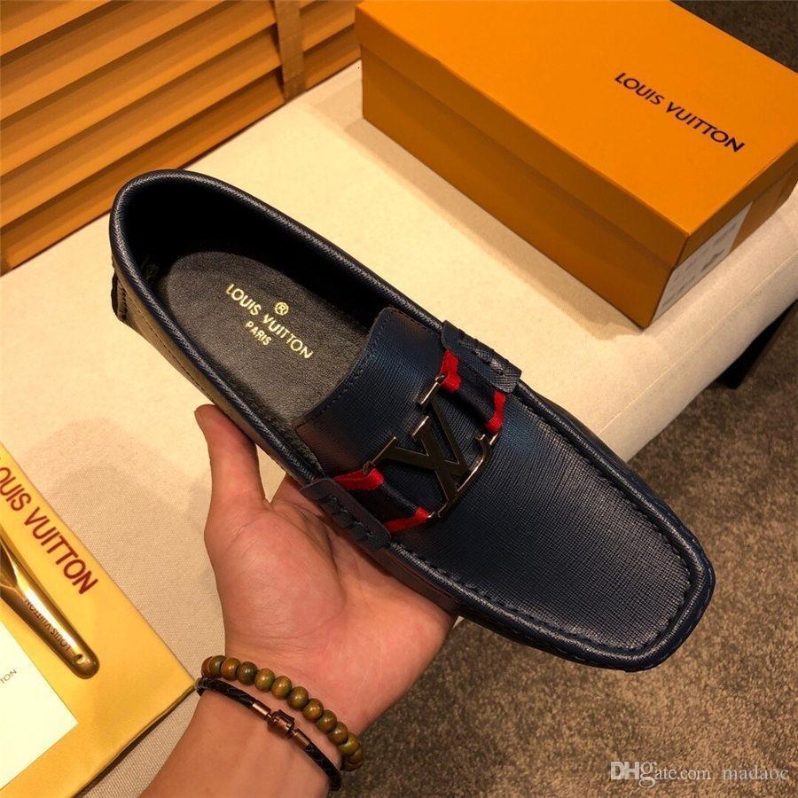 A8 мужская мода повседневная кожаная обувь мужчины осень роскошные туфли мужские квартиры ручной работы мокасины вождения обуви кружева up Dropshipping