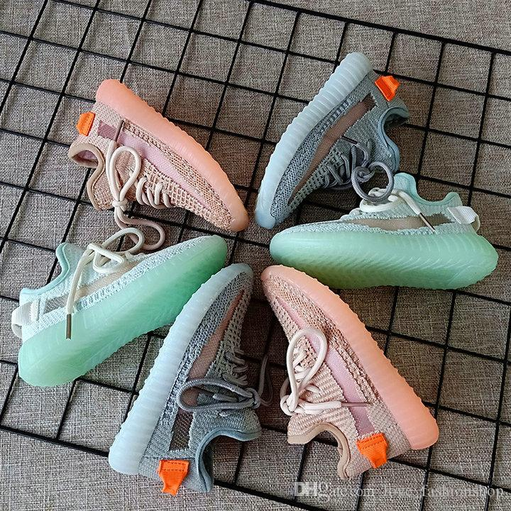 التجزئة بنين الاطفال الفتيات أحذية أحذية رياضية محبوك شبكة المنسوجة تنفس عارضة أحذية رياضة الجري الشباب الفتيان كرة السلة الاطفال المدربين حذاء رياضة