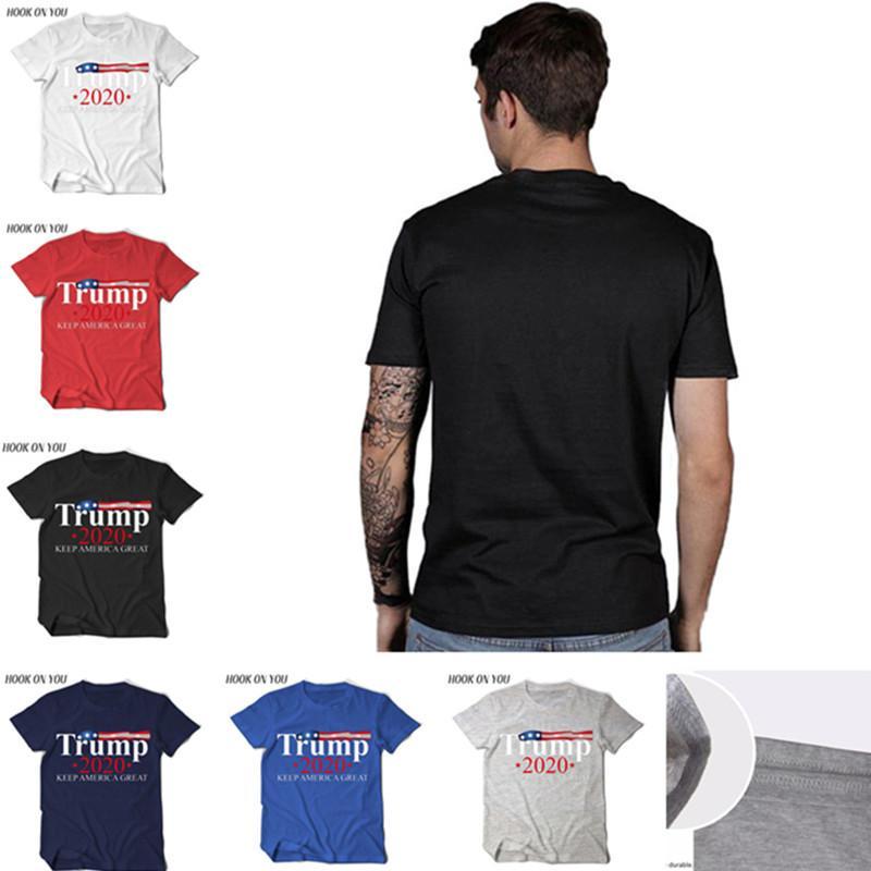 Homens Donald Trump 2020 T-shirt das mulheres do O-pescoço camisa de manga curta bandeira dos EUA Mantenha-americano Grande Letter Tops Camiseta Voto Eleição Camiseta D22503
