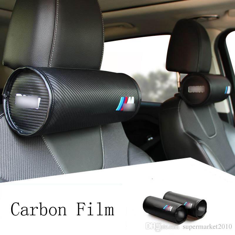 coche de la almohadilla del cuello apoyo para la cabeza del amortiguador de la cubierta de asiento auto de cabeza y cuello del amortiguador del resto de BMW M apoyo para la cabeza cubre los accesorios interiores