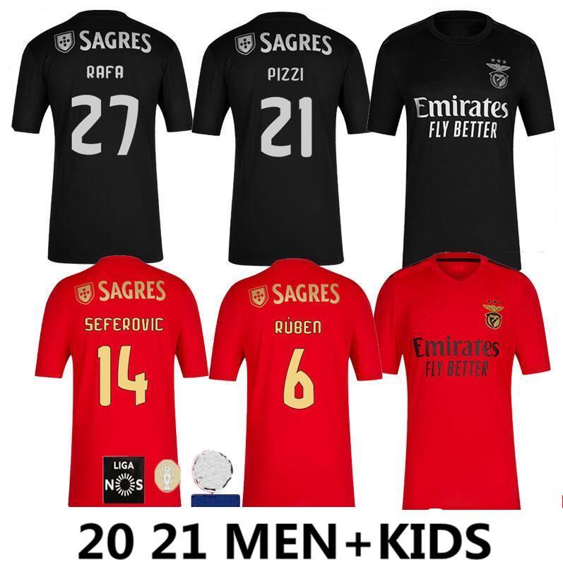 Acquista 20 21 SL Benfica Maglie Di Calcio Casa Lontano 2020 2021 RAFA Jota Pizzi GRIMALDO Ruben T Seferovic Vinicius Kit Uomi Bambini Maglia Di ...