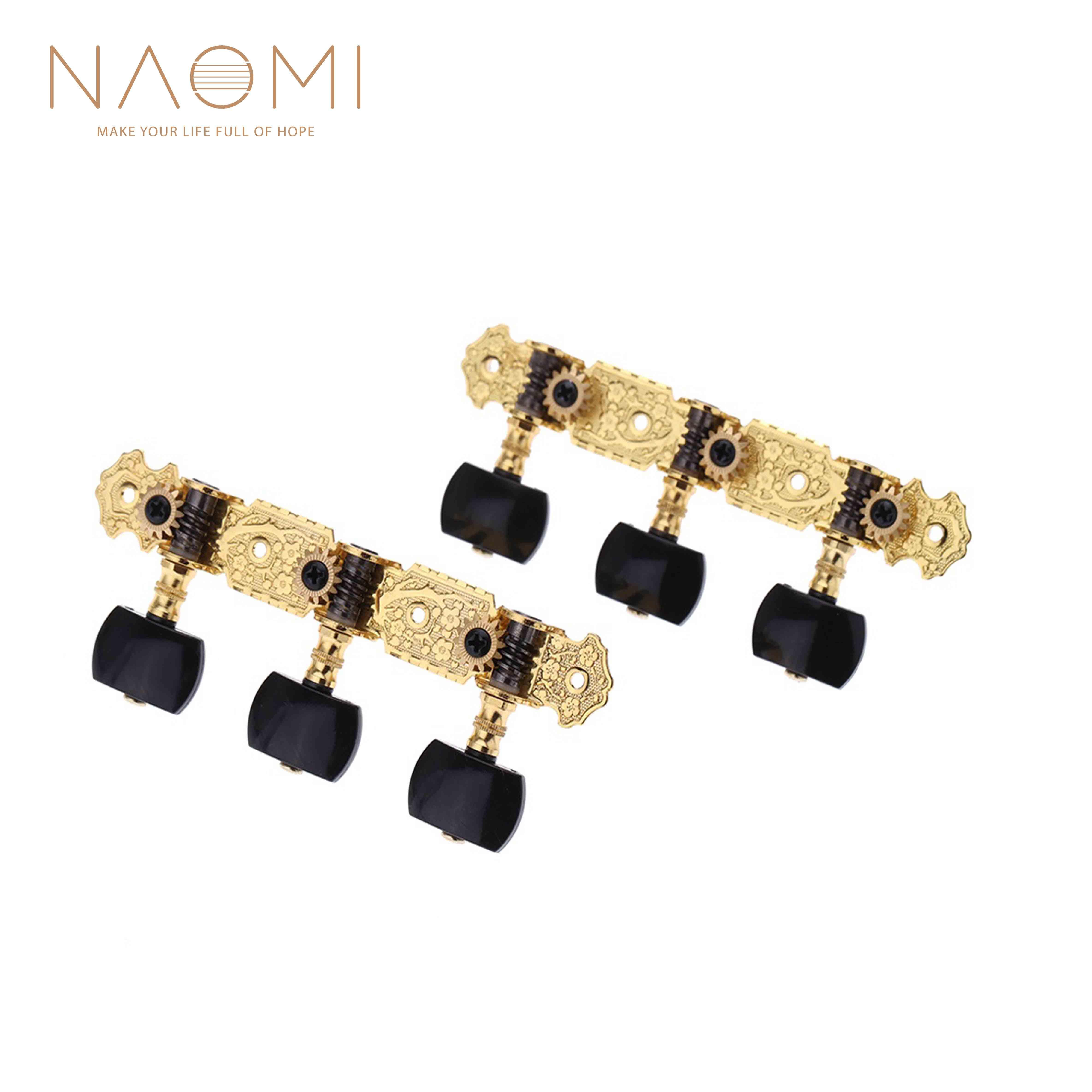 NAOMI Alice Plated Guitar Tuning Pegs Gold-Plated Durable Guitar Machine Heads020B3P Guitar Parts Accessories