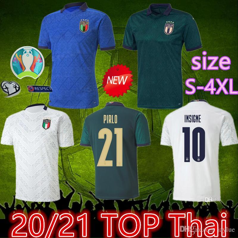 2020 Italien weg Dritter Fussball Jersey 19 20 4XL Italia Jersey Maglie Da Calcio Verratti Jorginho Romagnoli Immobil Bonucci Football Hemden