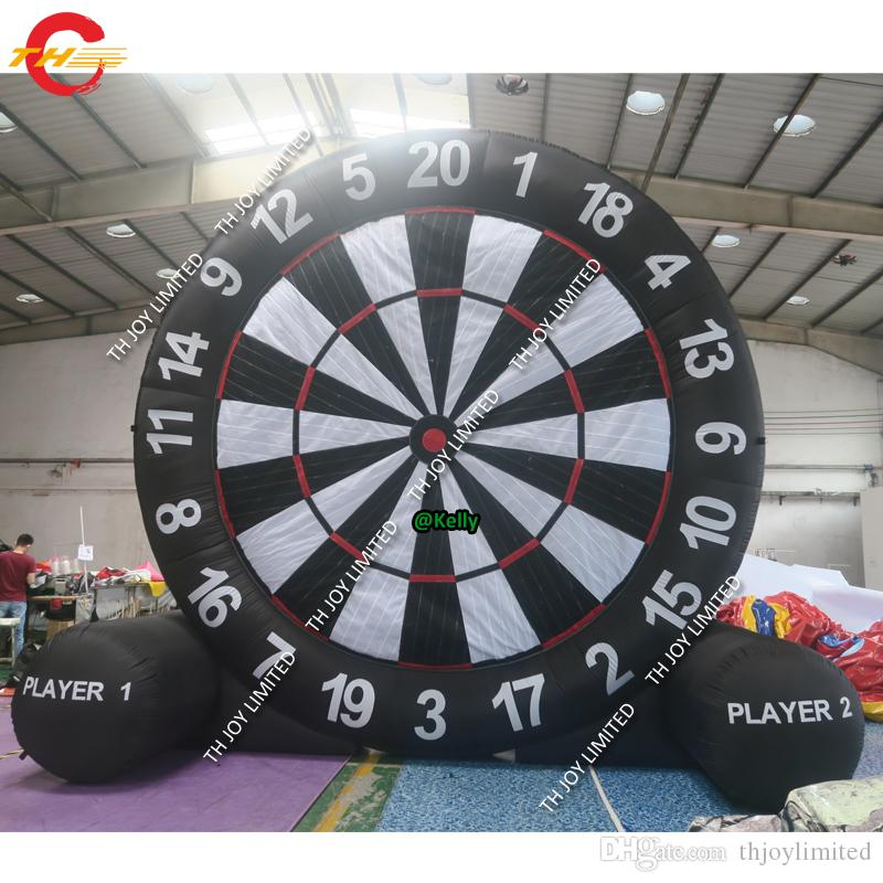 portable inflatable soccer football dart sport game high quality giant inflatable dart board soccer golf dart game for sale