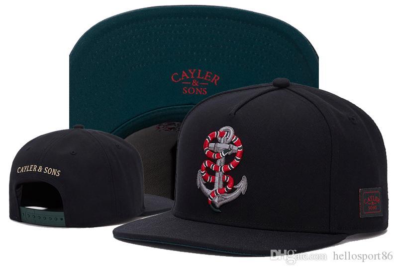Snapbacks Hat Cayler Sons хип-хоп мода Snapbacks регулируемые шляпы мужчины шапки женщины бейсболки высокое качество Snapback шапки черная змея мода