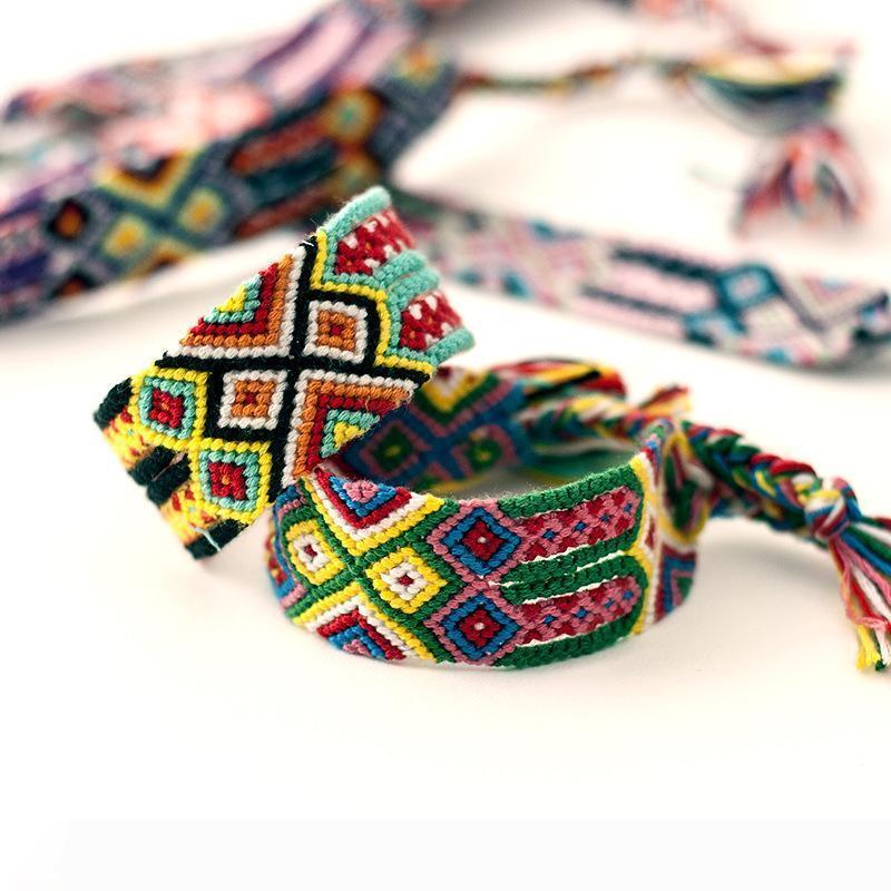 pulseiras de amizade Nepal 2.8cm coloridas pulseiras weave Handmade frete grátis ventos nacionais pulseiras