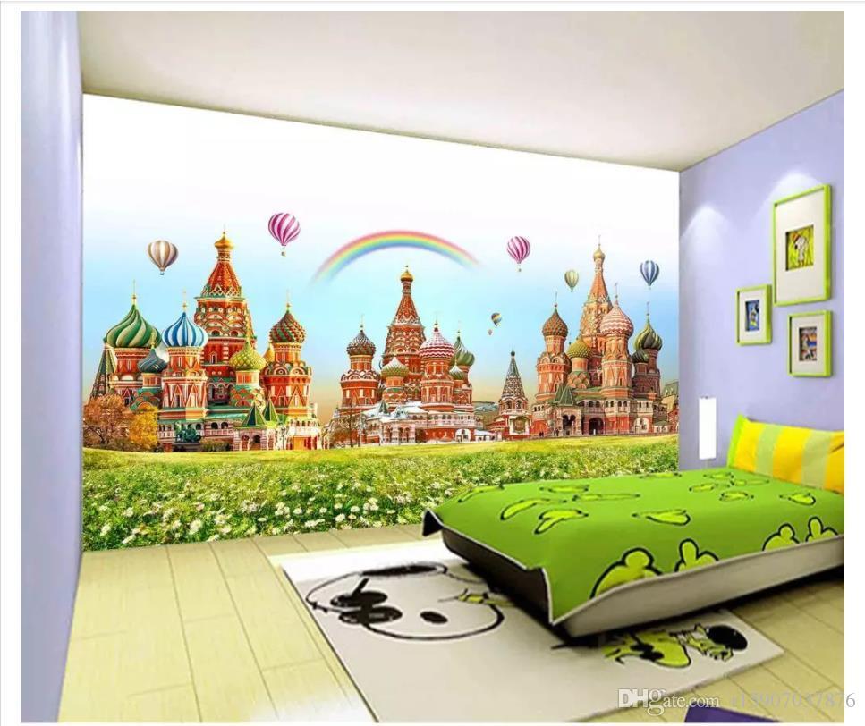3D пользовательские обои домашнего декора фото обои детская комната замок мир мечты спальня телевизор фон обои для стен