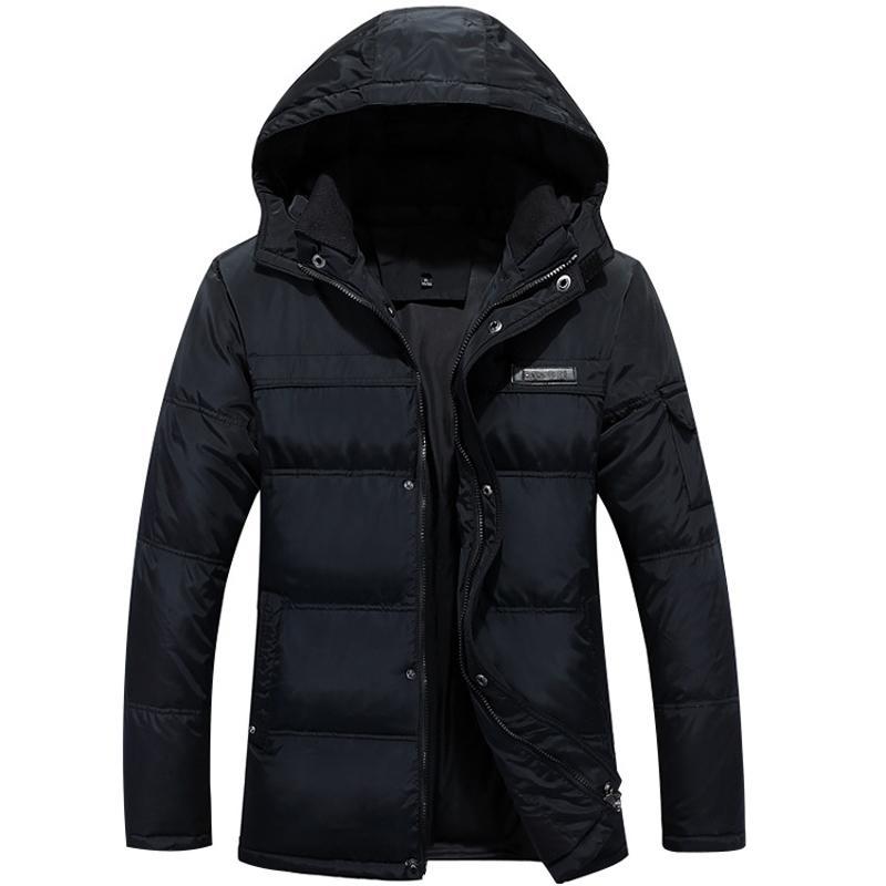 Veste d'hiver Hommes Parka 2020 blanc duvet de canard veste homme épais manteau capuche chaud Casual Windprood Outwear Jackets Taille Plus