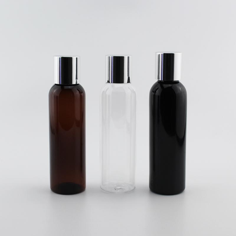 40pcs Gümüş Vida Kapaklı, Kozmetik için Şampuan Konteyner Şişe ile Doldurulabilir Kozmetik Konteyner 4 OZ Losyon Şişe Boş 120ml
