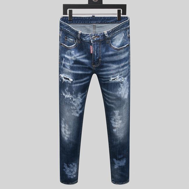 2020 Мужские дизайнерские джинсы мода тонкий тощий тонкий подходят Бибер джинсы черные белые хлопковые мужские Проблемные мужские Slim Fit джинсы мужские брюки