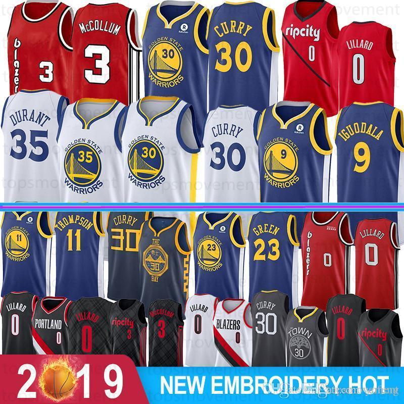 NCAA Damian 0 Lillard College Basketball Jerseys C. J. 3 McCollum Stephen Curry 30 23 Green Klay 11 Thompson 9 lguodala genähtesnba