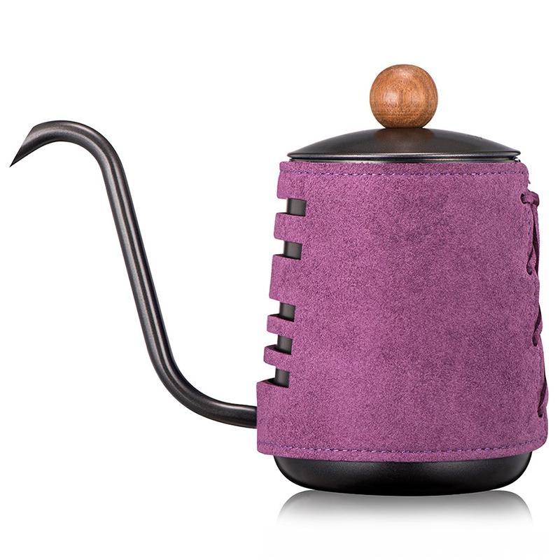 New aço inoxidável sem puxadores Anti-Hot Coffee Pot Drip Kettle 0,3 L / Criador 0.55L Café com Gooseneck bico Coffee Tea Pot