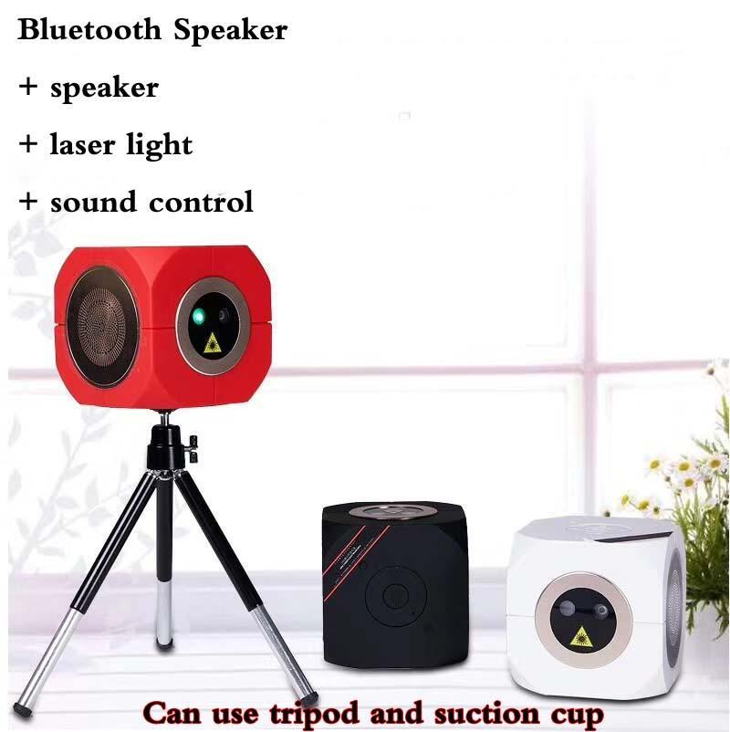 2019 new Mini Bluetooth Speaker Laser Light Voice-activated ktv laser stage light Outdoor laser light family get together Satchel can be loa