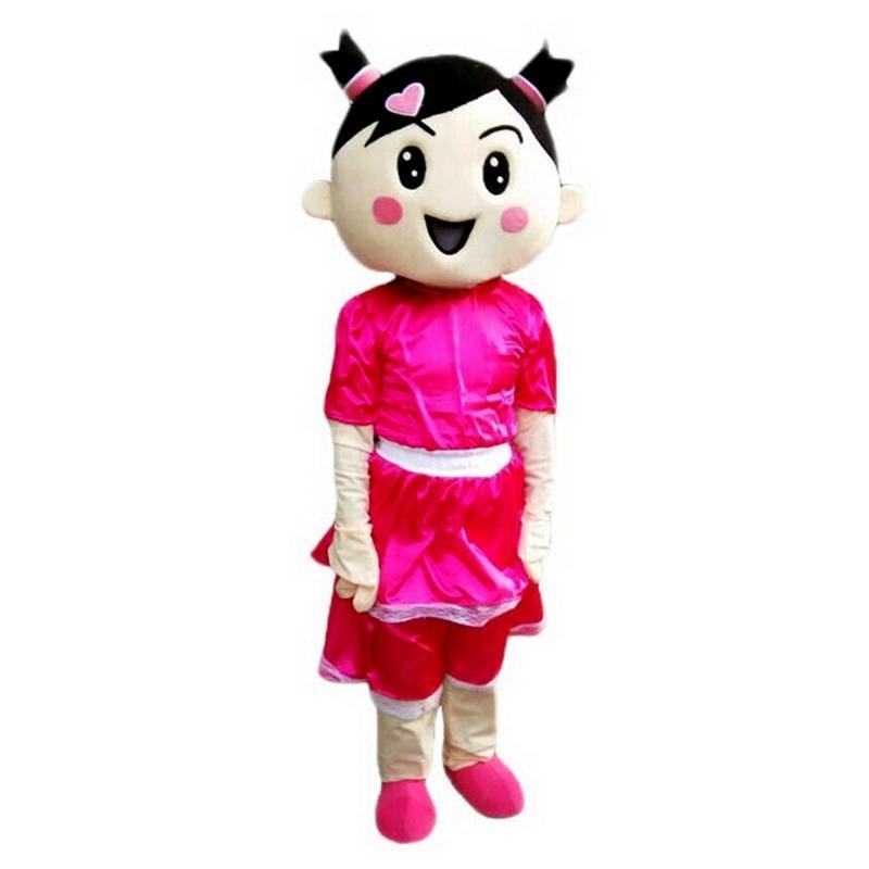 Ragazza del costume della mascotte dei cartoni animati di formato adulto Longteng (TM) 03