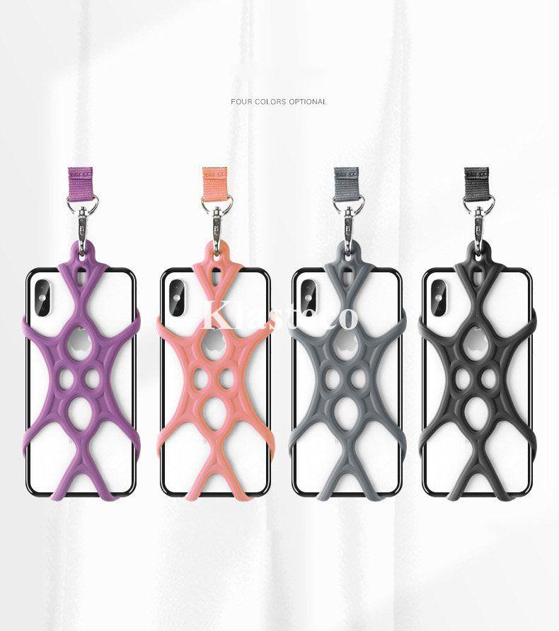العالمية أعلى جودة مصمم الهاتف الخليوي سيليكون حامل الحبل حالة تغطية الهاتف الرقبة حزام قلادة حبال للاسهم الهاتف المحمول الذكية