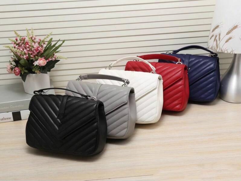 Mulheres bolsas de couro de alta qualidade Cadeia Patchwork Designer Bags Famous Brand mulheres Sacos Shoulder Bag Feminino Bolsos Mujer 52073 #