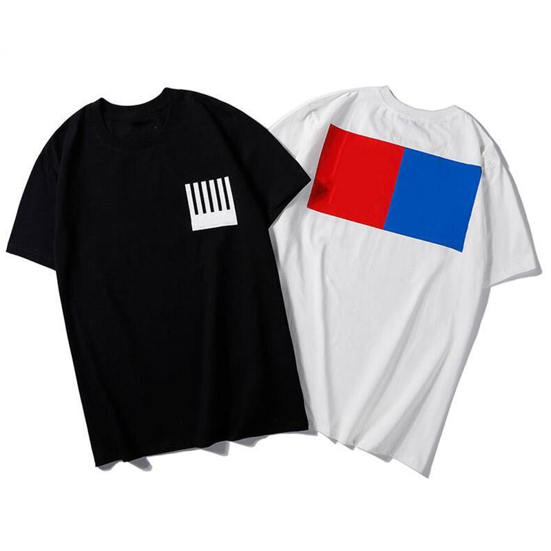 Summer Breathable Men's T-Shirts Casual Letter Geometric Printed Simple Men Women Street Short Sleeve T Shirt Tops