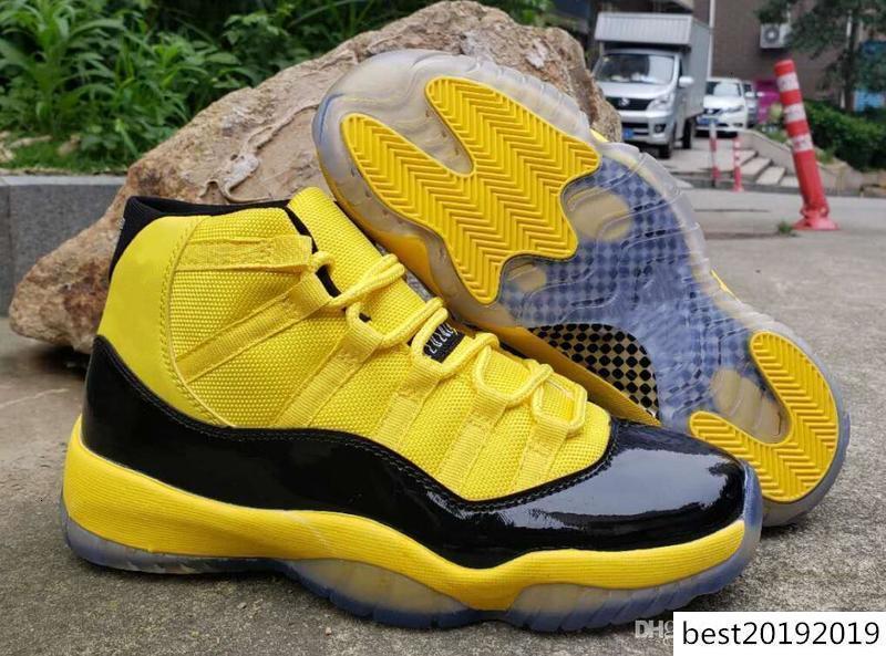 Migliori nuovi pattini di Jumpman 11 Xi Calabrone Nero Giallo pallacanestro vendita poco costosa di alta qualità di formatori 11s Designer Sport Sneaker