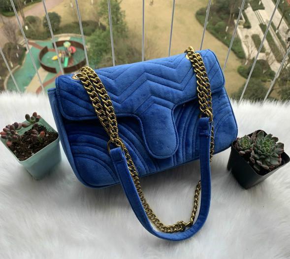 Designer 443497 donne borse di velluto della borsa classica pelle borse a tracolla fashion brand nuovo sacco per cadaveri trasversale di sera 476.433 trasporto libero