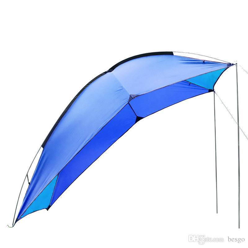 캠핑 낚시 VT0165 알루미늄 합금 폴 휴대용 자동차 텐트 텐트 타프 일 보호소 야외 방수 5-8 사람이 자동차 텐트