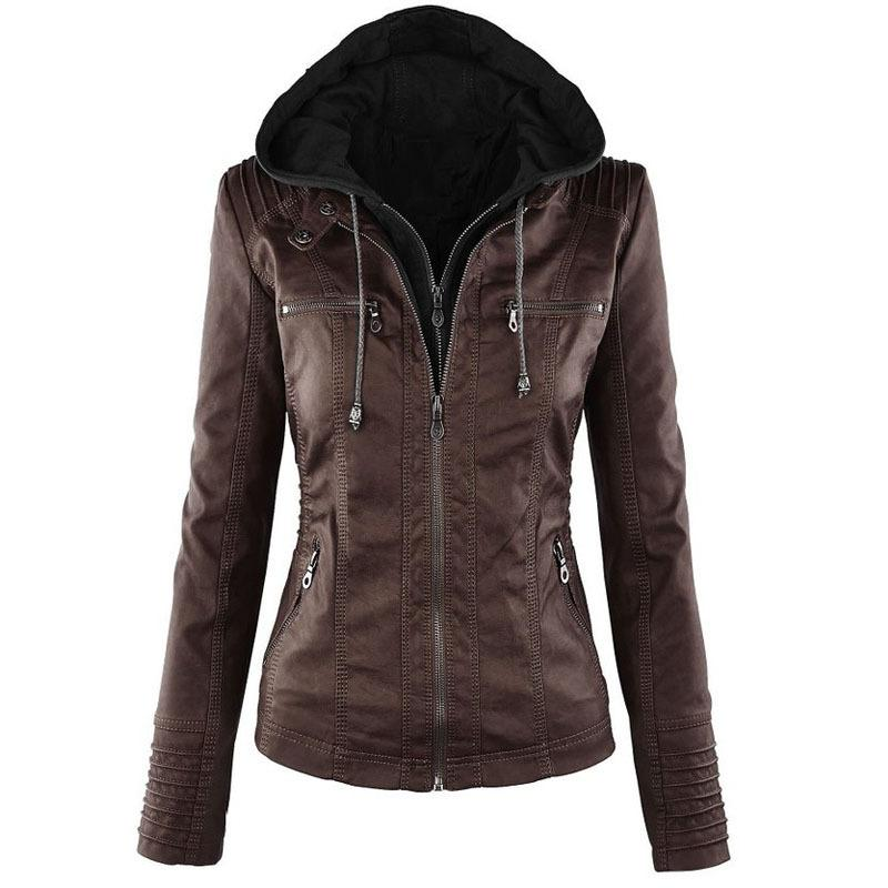 Women Casual Jackets 2020 New Fashion Solid Color Coats Womens Designer Slim Hip Hop Streerwear Women Casual Motorcycle Clothing