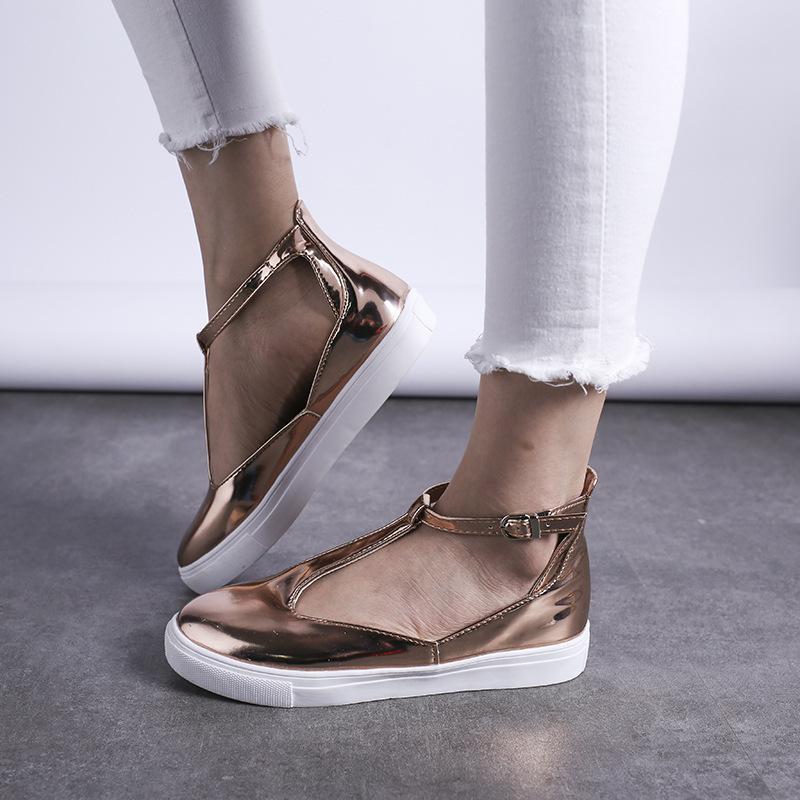 de gran tamaño de las mujeres de las sandalias de 2019 T secundarios hebilla de los zapatos para mujer bolsa vacía diapositivas de lujo chanclas sandalias