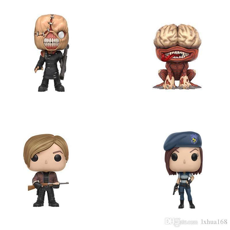 Kawaii Kawaii FUNKO POP NEW Resident Evil 10cm NEMESIS JILL VALENTINE,LICKER Action Figure Collection Model Toys For children birthday Gifts