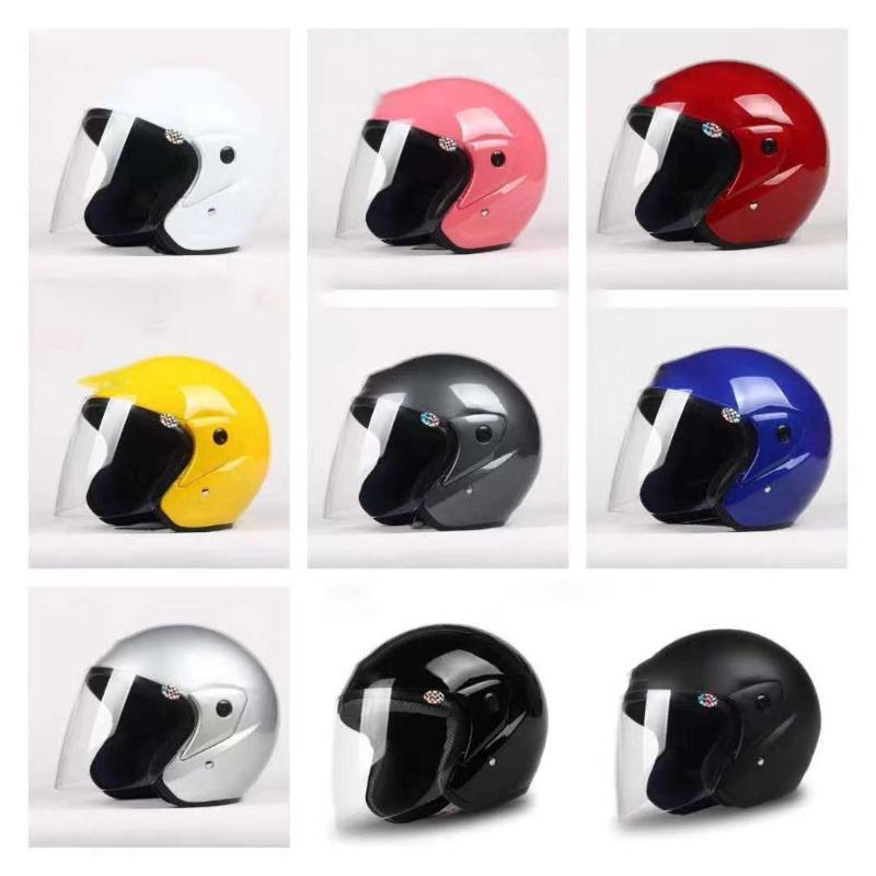 Fashion Motorcycle Helmet Electric Unisex Helmet Electric Bicycle Visor Safety Caps and Windscreens