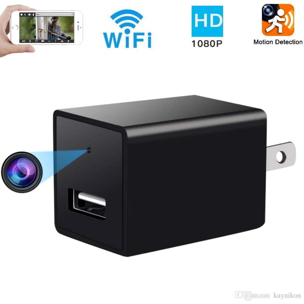 보안 카메라 벽 충전기 어댑터 카메라 모션 감지 및 원격 비디오에 숨겨진 USB 카메라 와이파이 HD 1080P 미니 플러그