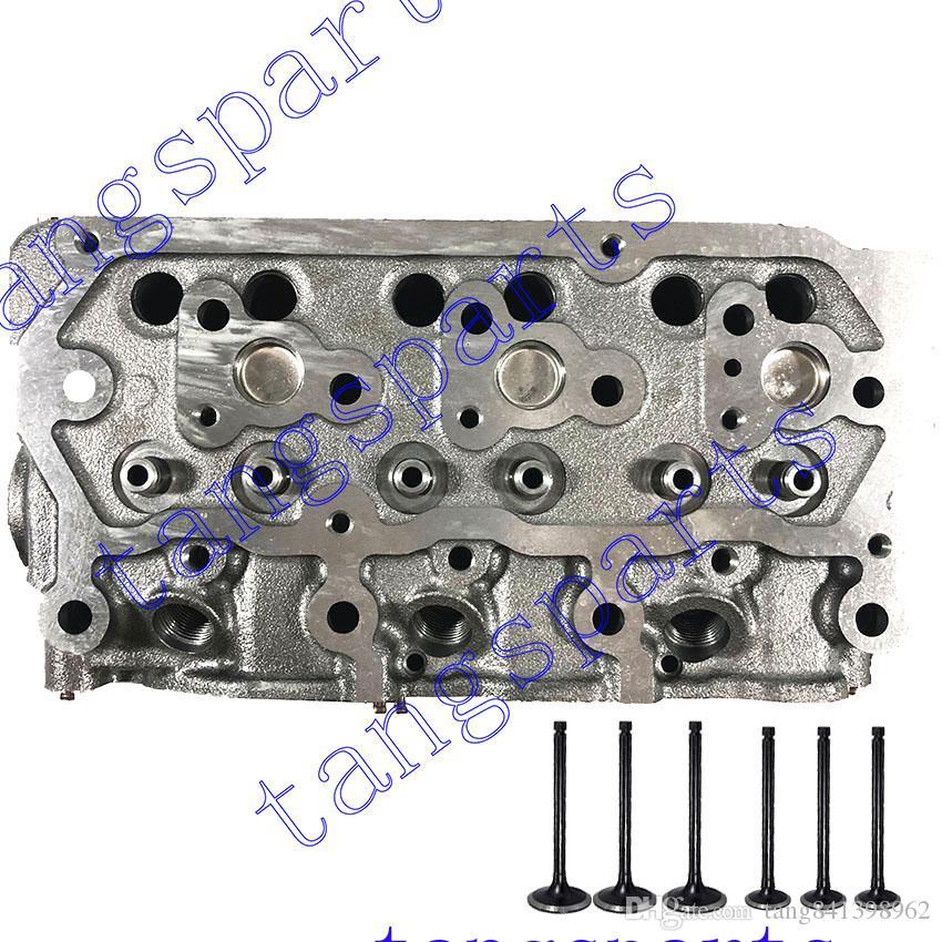 Nova cabeça de cilindro S3L2 com válvulas para Mitsubishi fit Mahindra 2015 HST motor S3L