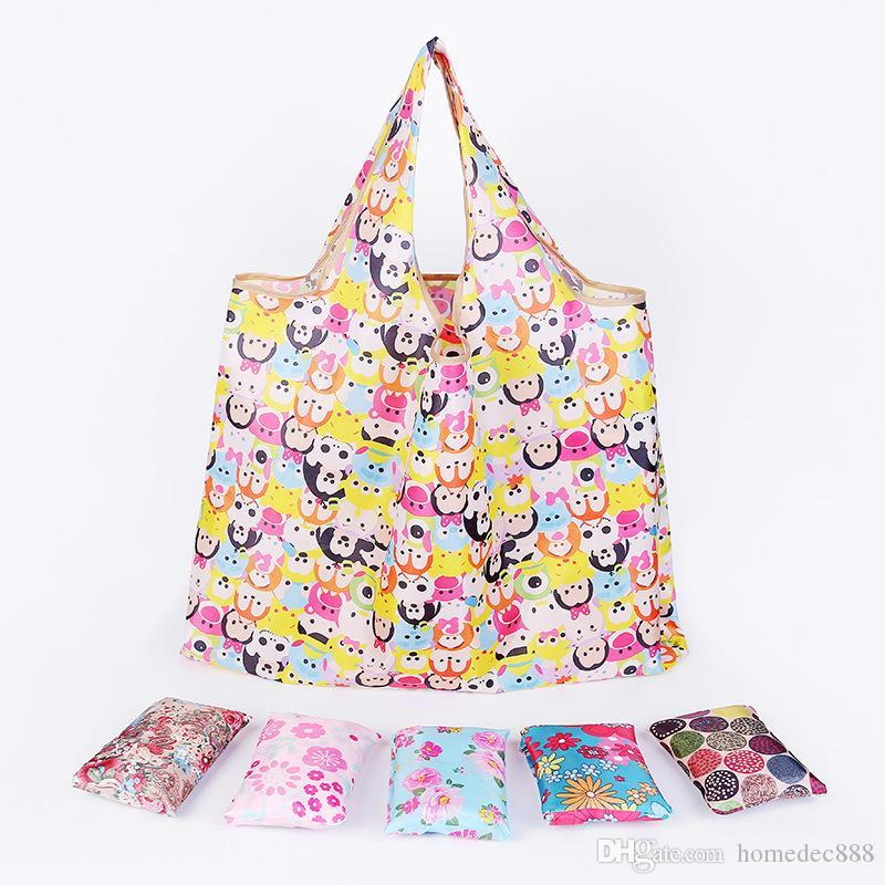 جديد حمل الحقائب سعة كبيرة شحن مجاني للماء طوي أكياس التسوق قابلة لإعادة الاستخدام حقيبة تخزين أكياس التسوق صديقة للبيئة DH0388