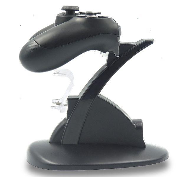 LED duplo Charger Doca Mount suporte de carga USB para PlayStation 4 PS4 Xbox Um controlador de jogos sem fio com Retail Box