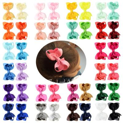 Vendita calda 40 colori 3inches bambini multicolore Alice della forcella del fiore Bow Duckbill della clip del bambino della clip di capelli di modo