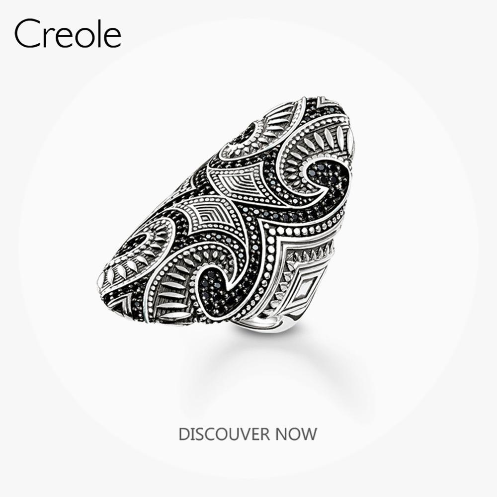 Le Expressif Anneau Maori, 2019 Marque 925 Mode Bijoux en argent sterling ethnique Tattoo Ornementation cadeau pour les femmes