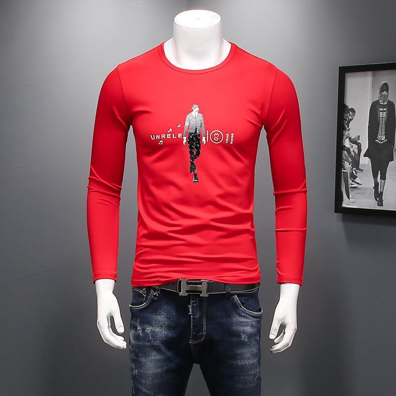 2020 hombres de alta calidad de manga corta de moda de verano camiseta casual cómodo cuello redondo camiseta ropa de moda 3HMZ